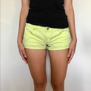 American Eagle Yellow Shorts Size 2